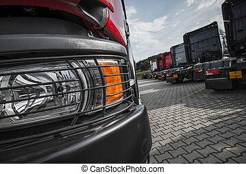 經銷商, 卡車, 簽, 半