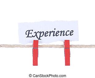 經驗, 詞, 懸挂, 所作, 木制, 釘