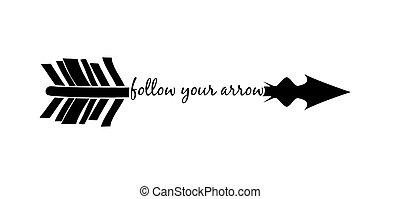続きなさい, arrow., あなたの, インスピレーションを与える, 引用