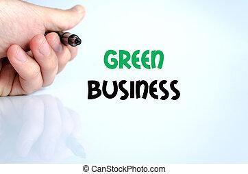 綠色的商務, 正文, 概念