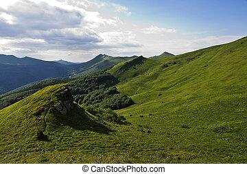 綠色的小山