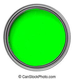 綠色的染料, 罐頭