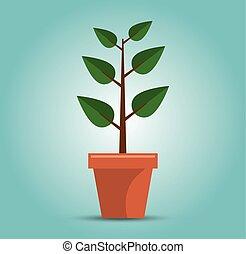 綠色的樹, 成長, 概念