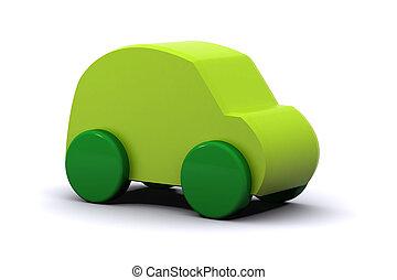 綠色的汽車