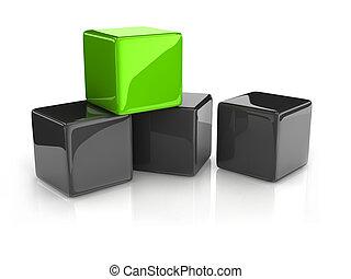 綠色的立方