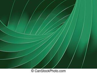 綠色的背景, 結構