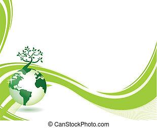 綠色的背景, 自然