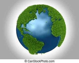 綠色的行星