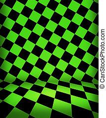 綠色, 國際象棋, 房間, 階段