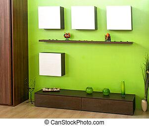 綠色, 房間