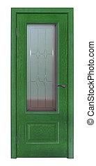綠色, 房間, 門, 被隔离