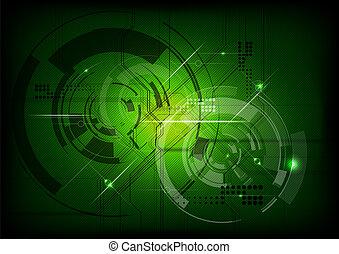 綠色, 技術