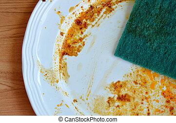綠色, 擦洗, 海綿, 打掃, 食物, 瑕疵