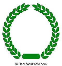綠色, 月桂樹 花圈