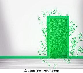 綠色, 未來, 門