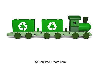 綠色, 玩具火車