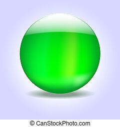 綠色, 玻璃, 球