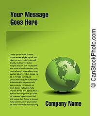 綠色, 矢量, 設計, 頁