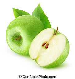 綠色, 被隔离, 蘋果