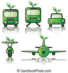 綠色, 運輸
