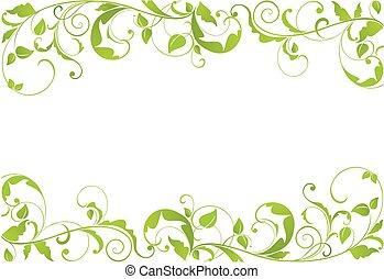 綠色, 邊框