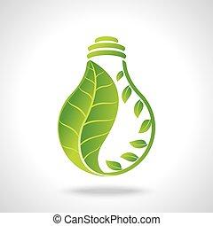 綠色, eco, 能量, 概念