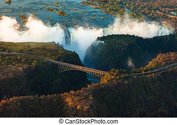 維多利亞瀑布, 從空气中