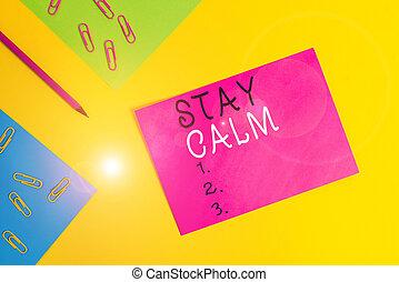 維持しなさい, 平野, メッセージ, 鉛筆, ペーパー, 単語, 概念, 滞在, さらに, ブランク, バックグラウンド...