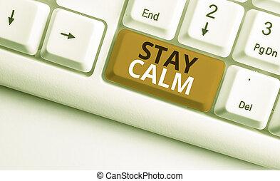 維持しなさい, 提示, キーボード, 白, ペーパー, 滞在, さらに, バックグラウンド。, 州, 滑らかに, メモ...