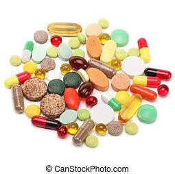 維生素, 藥丸, 以及, 小塊