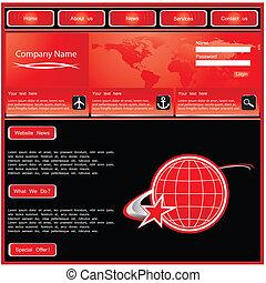 網の設計, サイト, テンプレート