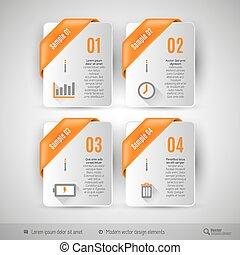 網の設計, テンプレート, ビジネス, infographics