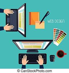 網の開発, デザイン