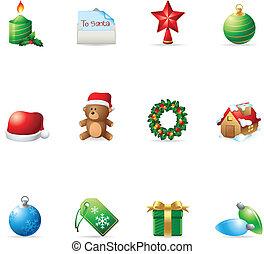 網アイコン, -, クリスマス, もっと