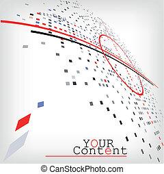 網ビジネス, 抽象的, -, イラスト, ベクトル, デザイン, 背景