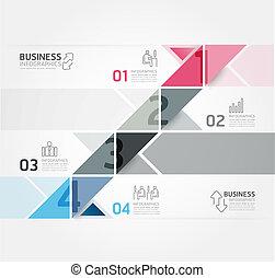 網站, 是, 風格, 使用, 布局, 矢量, 現代, 線, /, 或者, 旗幟, infographic, 設計, 編號...