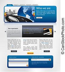 網站, 設計, 樣板