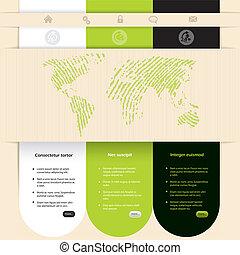 網站, 顏色, 設計, 對照, 樣板