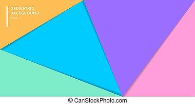 網站, 風格, leaftlet, 海報, 鮮艷, 卡片, 飛行物, 旗幟, 摘要, 覆蓋, 背景。, 紙, 小冊子, 樣板, 幾何學, 等等, 分層堆積, 三角形