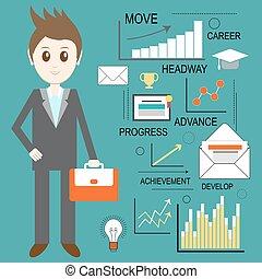 網路商業, 資訊, analytics, 矢量, 發展, conceptual., 統計