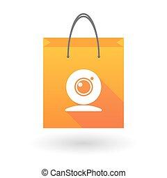 網, アイコン, 買い物, カム, 袋