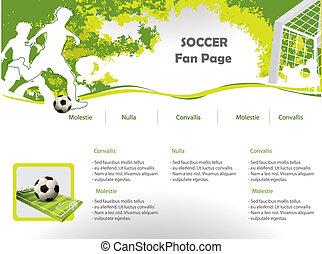 網, サッカー, デザイン, サイト, テンプレート