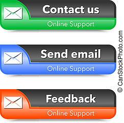 網, サポート 要素, デザイン, オンラインで