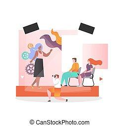 網, ショー, ウェブサイト, ファッション, ベクトル, ページ, 概念, 旗