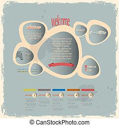 網, スタイル, 型, 創造的, デザイン, 泡