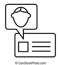 網, スタイル, icon., 10., アウトライン, 設計された, 隔離された, イラスト, デザイン, app., ベクトル, white., 学生, アイデンティティー, 線, eps, id カード, 薄くなりなさい