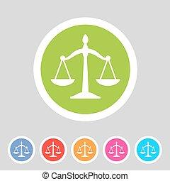 網, バランス, 平ら, シンボル, ラベル, 印, ロゴ, 法律, アイコン