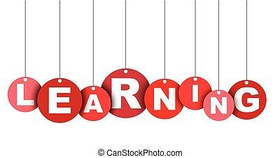 網, ベクトル, これ, 旗, 井戸, 隔離された, イラスト, 要素, タグ, 容易である, 円, adapted, learning., 赤, design.
