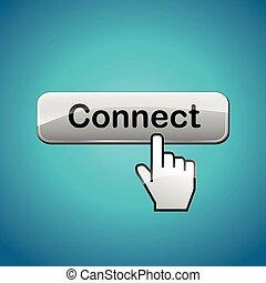 網, ボタン, 連結しなさい
