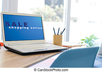 網, ラップトップ, デスクトップ, オンラインで買い物をする